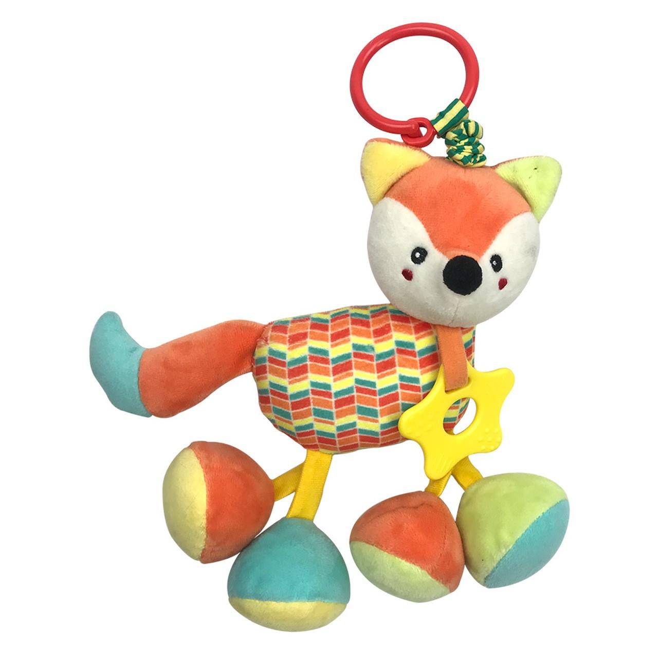 Pelúcia Infantil Raposa Fofy Chocalho - Dm Toys 5981