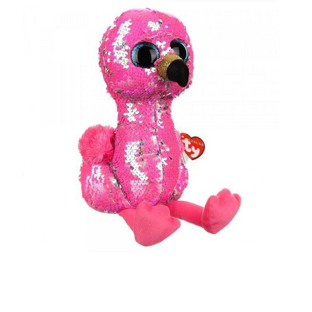 Pelúcia Ty Beanie Boos Flippables Pinky 35Cm Lantejoula Dtc