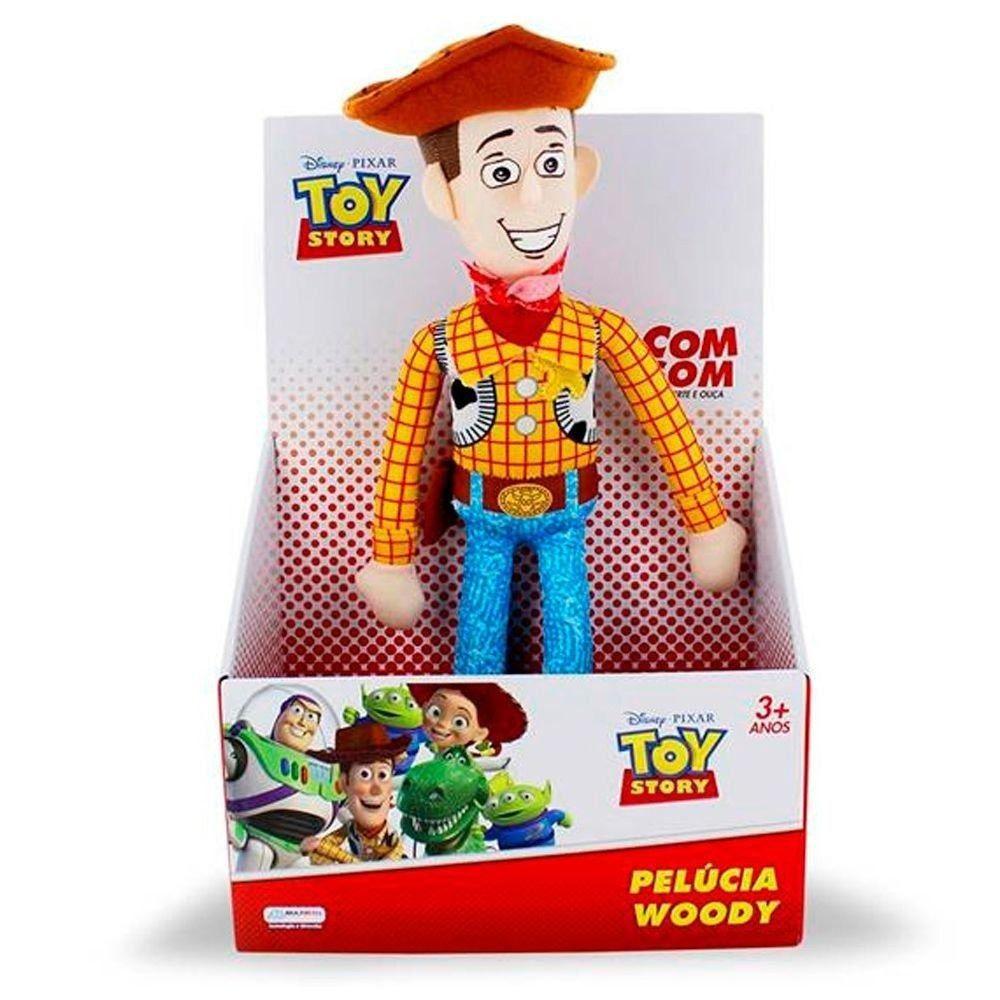 Pelúcia Woody Toy Story Com Som Multikids 30 cm