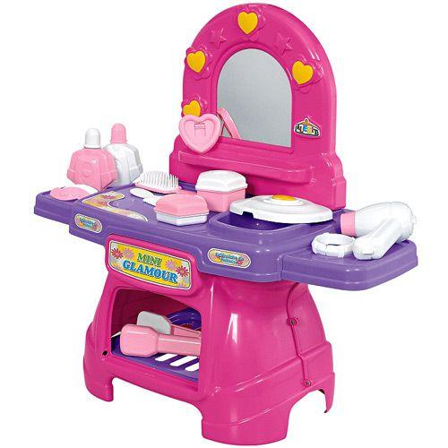 Penteadeira Infantil Mini Glamour Rosa Meninas - Calesita