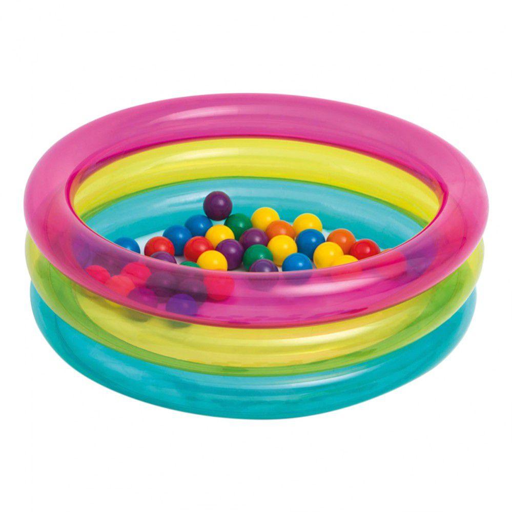 Piscina de Bolinha Multi-color Intex 86x25 Cm c/ 50 Bolinhas
