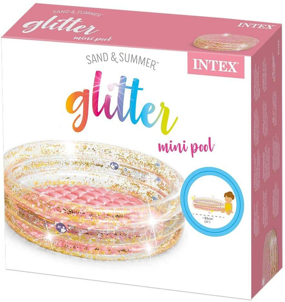 Piscina Inflavel Mini Gliter Infantil 56l - Intex 57103