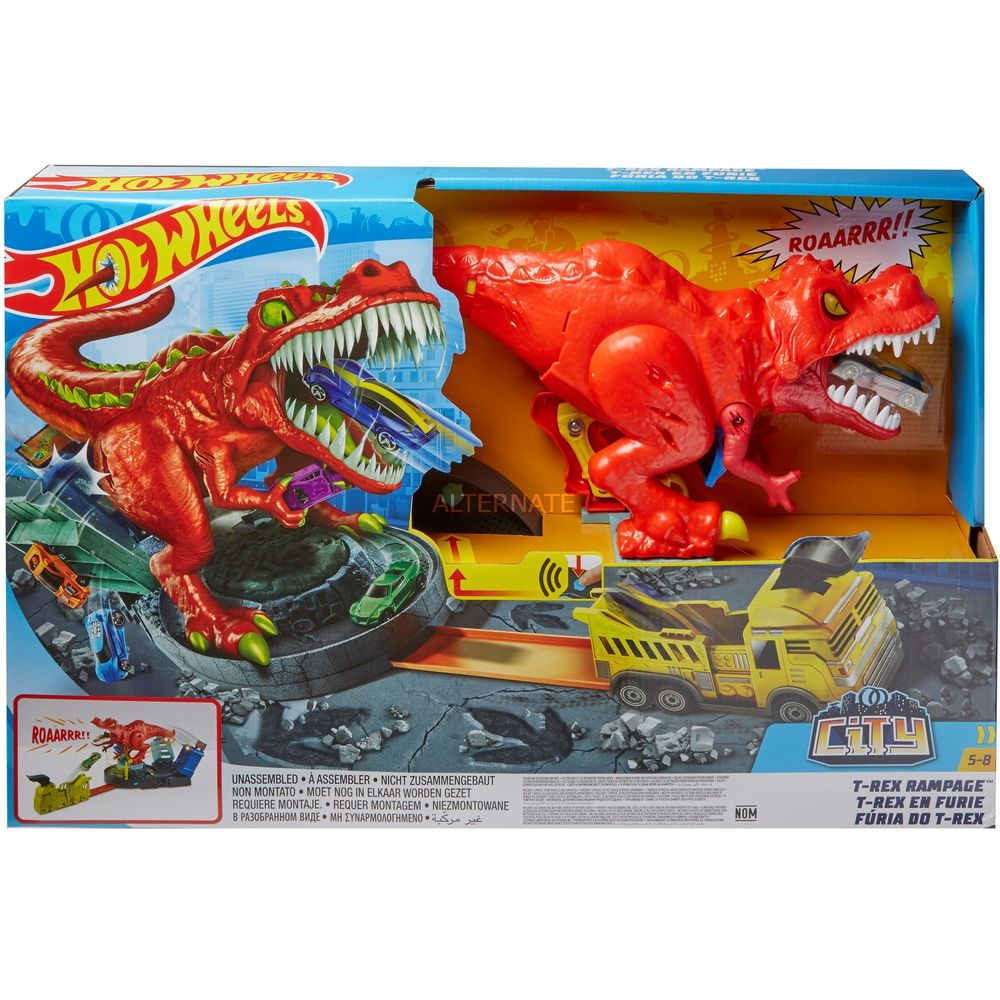 Pista Hot Wheels City T-rex Demolidor - Mattel - Gfh88