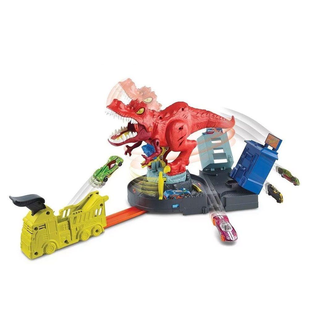 Pista Hot Wheels City T-rex Demolidor - Mattel - Gfh88