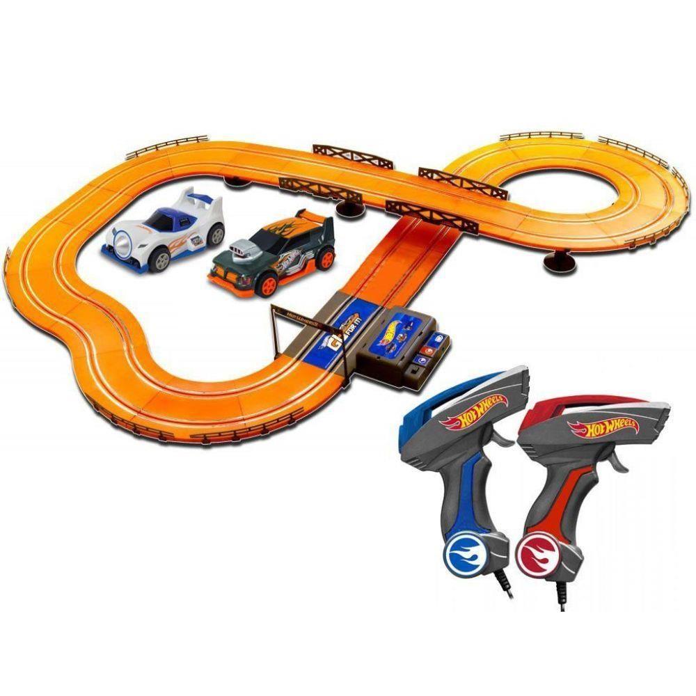 Pista Hotwheels c/ 2 Carrinhos 380cm Slot Car Track Set - Multikids
