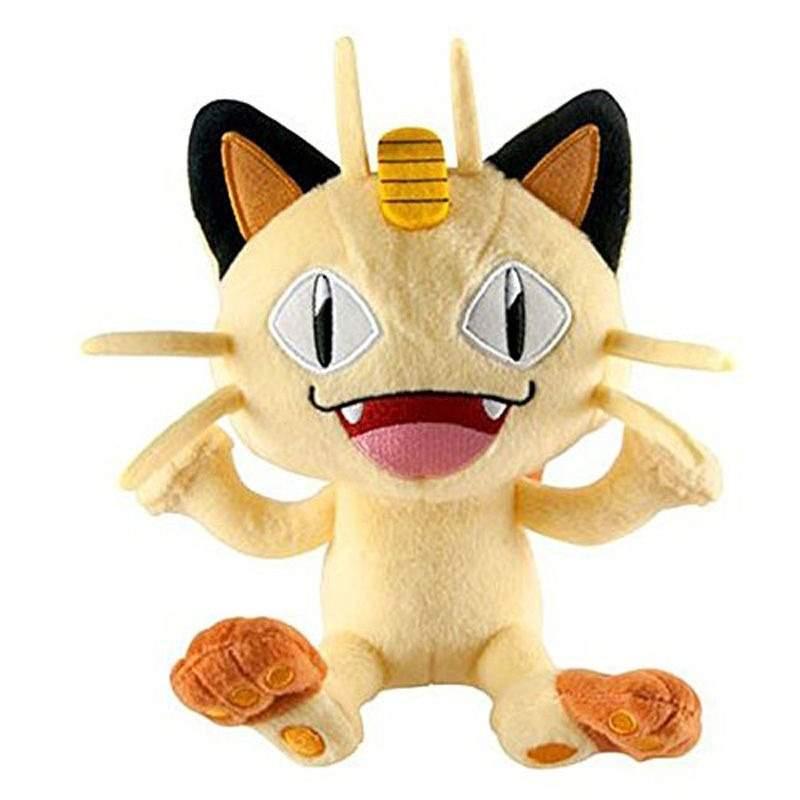 Pokemon de Pelúcia Meowth 22cm - Dtc