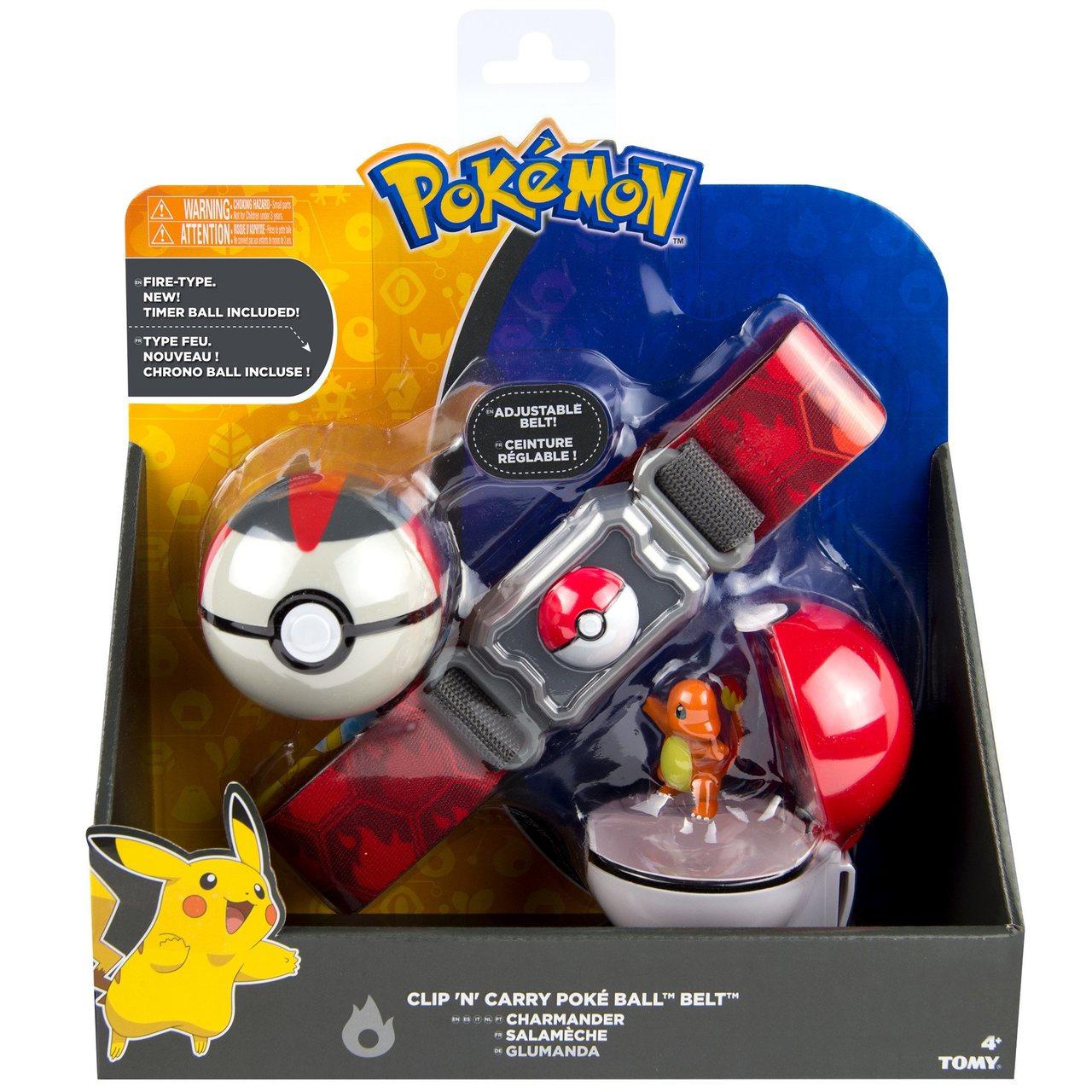 Pokemon Kit Cinturão De Ação Com Pokebolas Charmander - Tomy