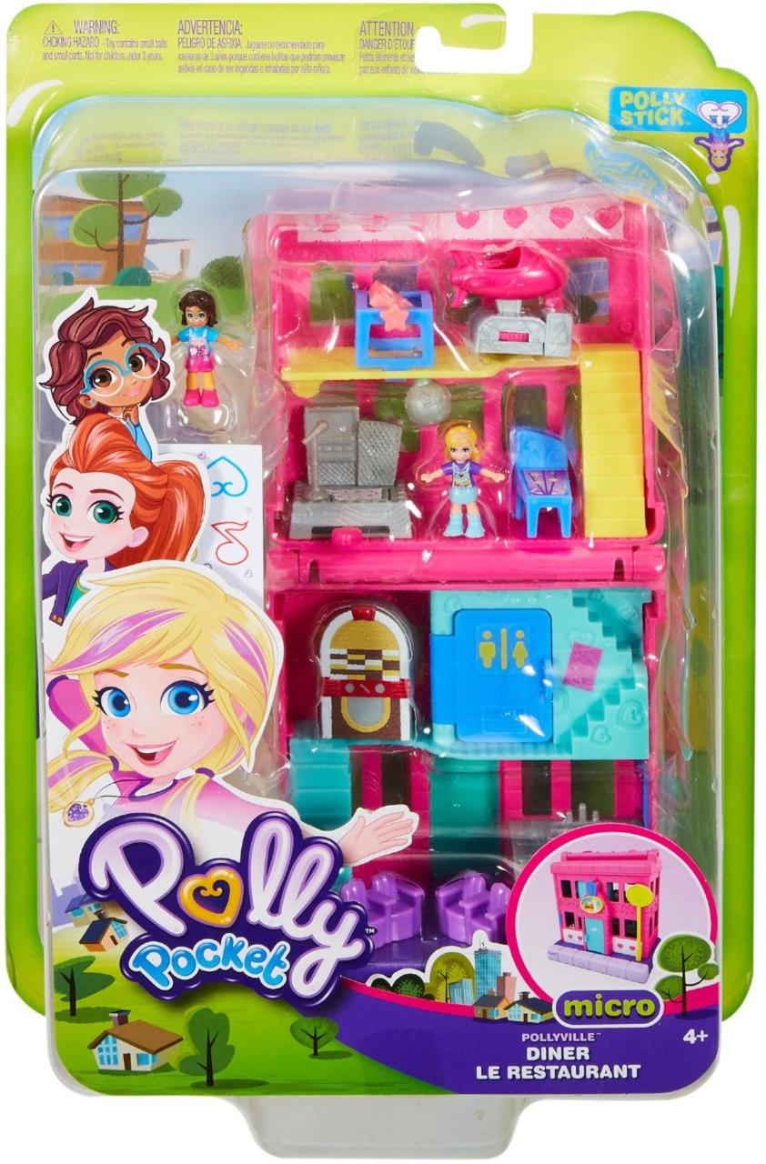 Polly Pocket Micro Lanchonete Pollyville - Mattel Ggc29