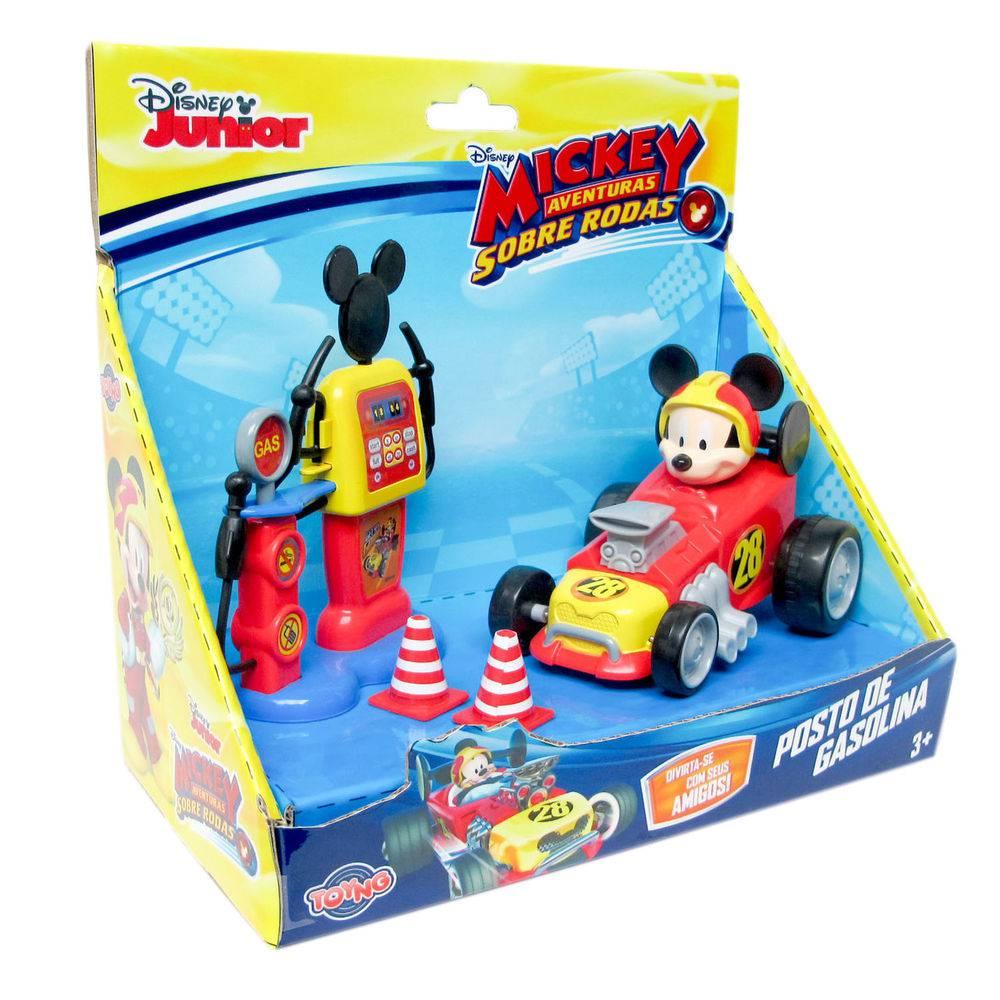 Posto de Gasolina e Carrinho Mickey Aventuras sob. Rodas - 33472
