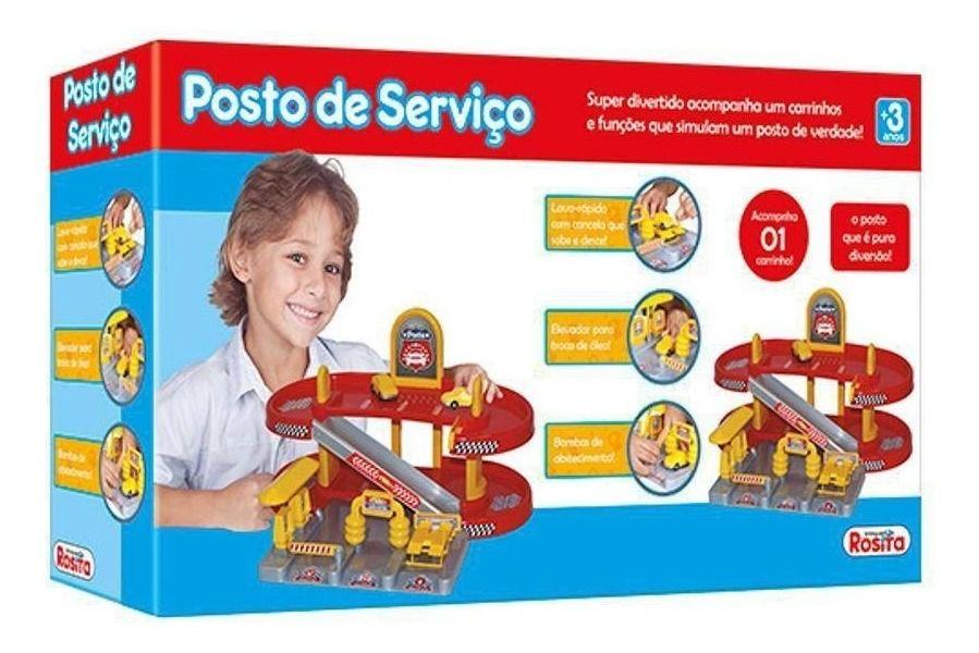 Posto Infantil De Brinquedo C/ 1 Carrinho Rossita