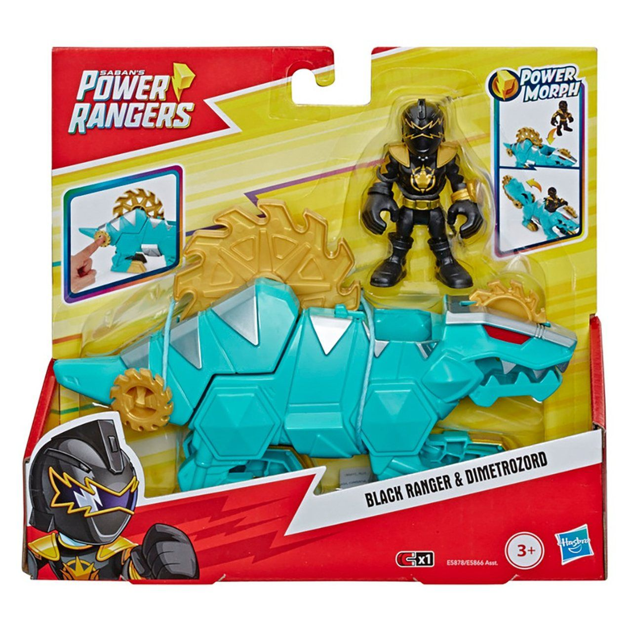 Power Ranger Black Ranger e Dimetrozord - Hasbro E5866