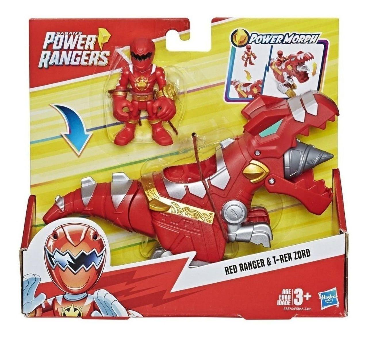 Power Ranger Red Ranger e T-Rex Zord - Hasbro E5866