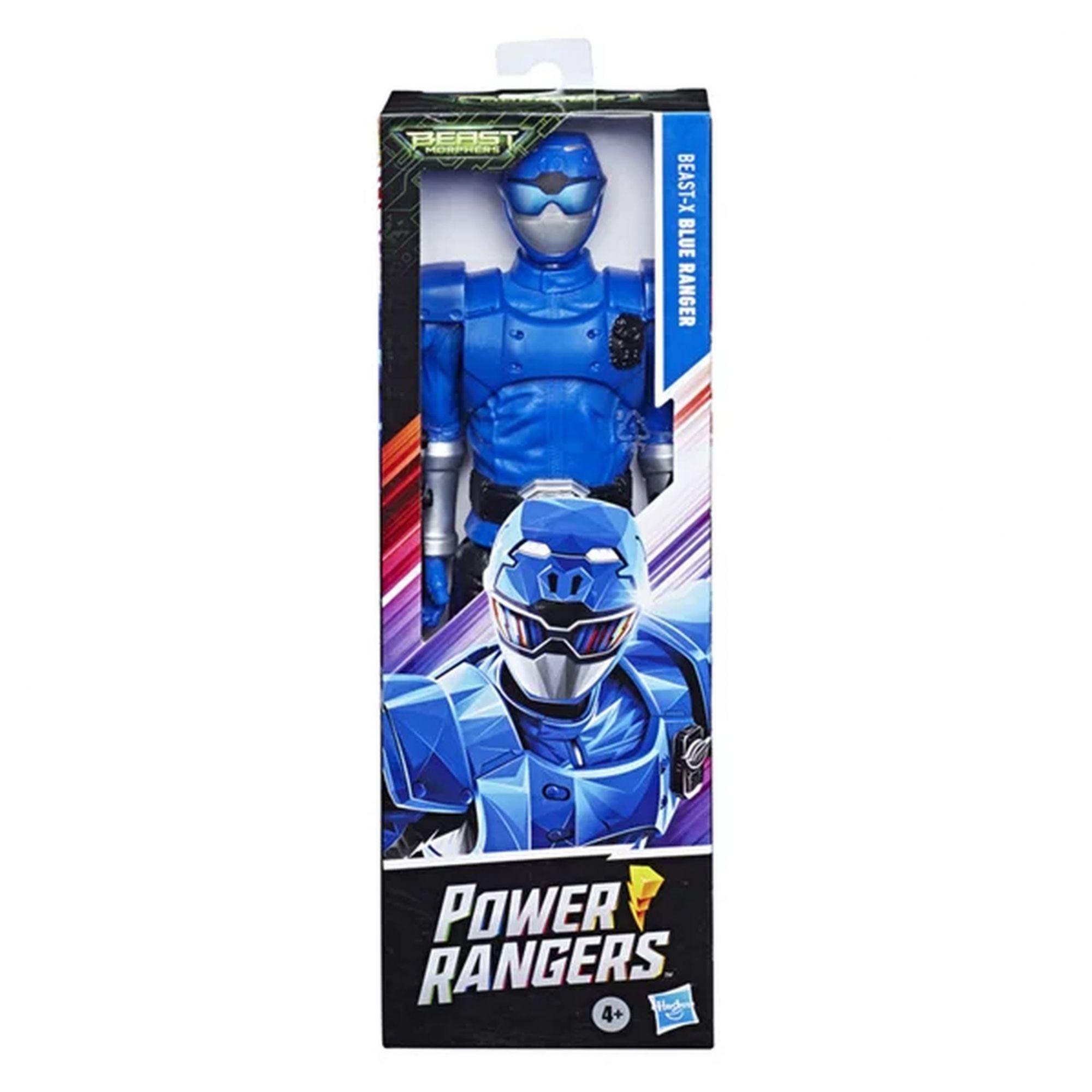 Power Rangers Boneco Ranger Azul Beast-X - Hasbro E7803