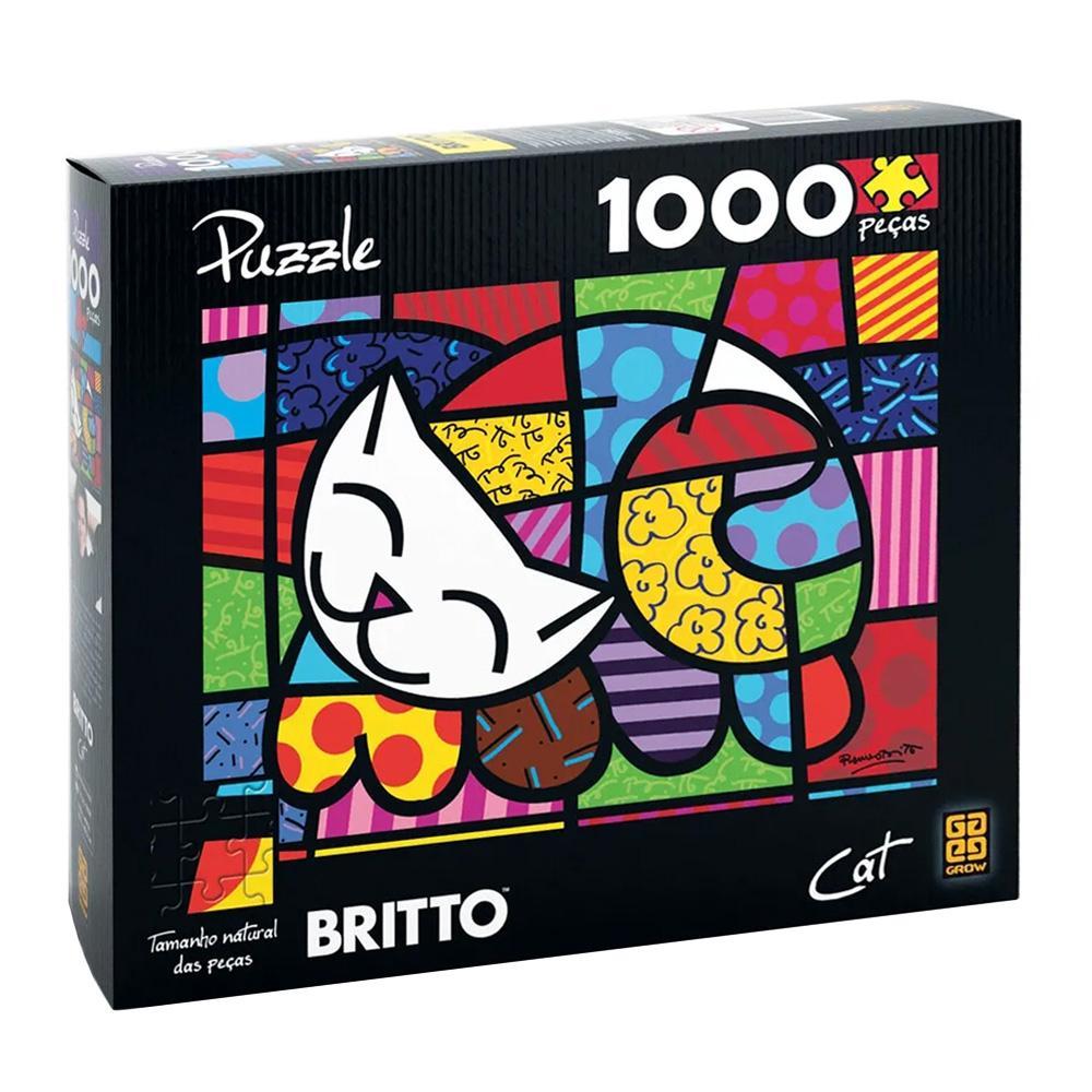 Quebra Cabeça 1000 Peças Romero Britto Cat - Grow 3264