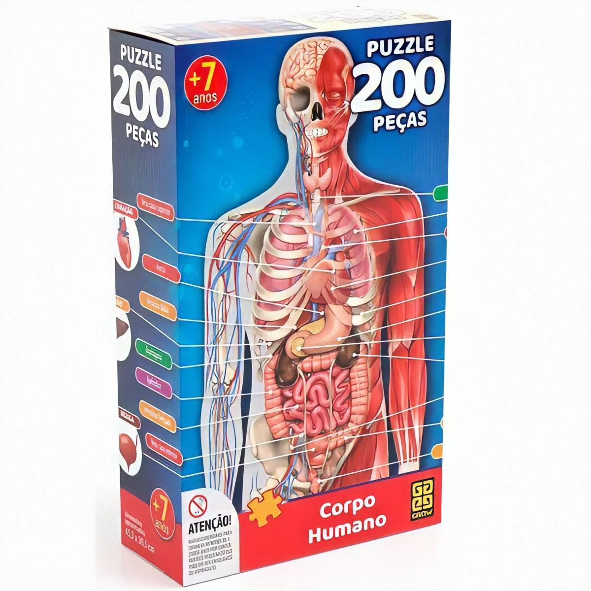 Quebra Cabeça 200 Peças Corpo Humano - Grow 03937