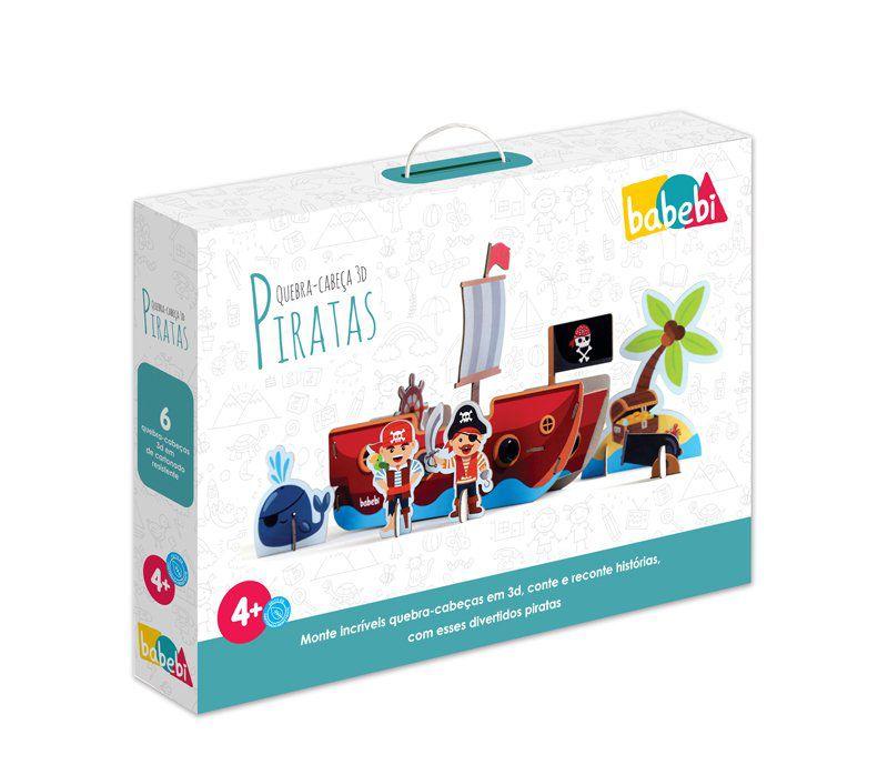 Quebra Cabeça 3D Piratas 19 Peças - Babebi