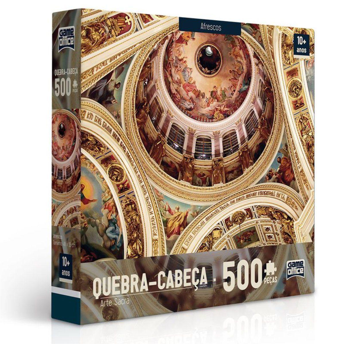 Quebra Cabeça Afrescos Arte Sacra 500 Peças - Toyster 2423