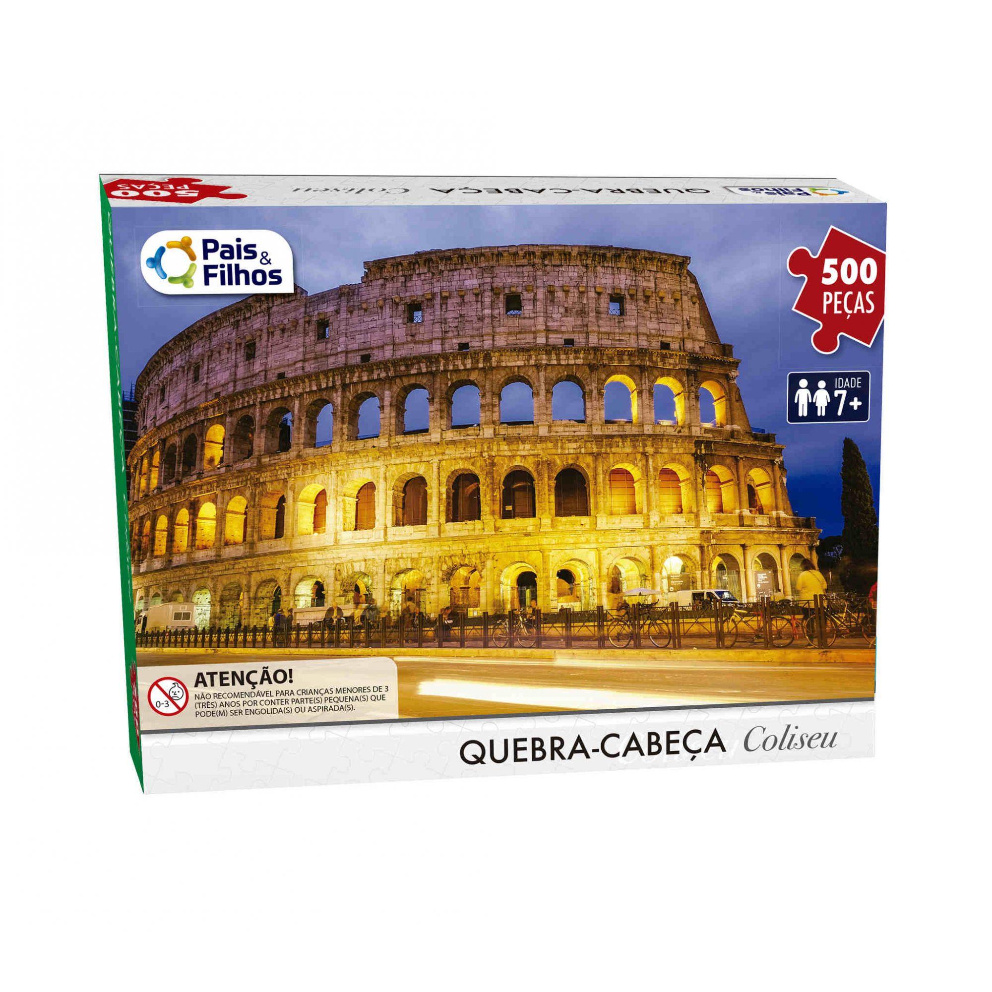 Quebra Cabeça Coliseu 500 Peças  Pais e Filhos - 7265