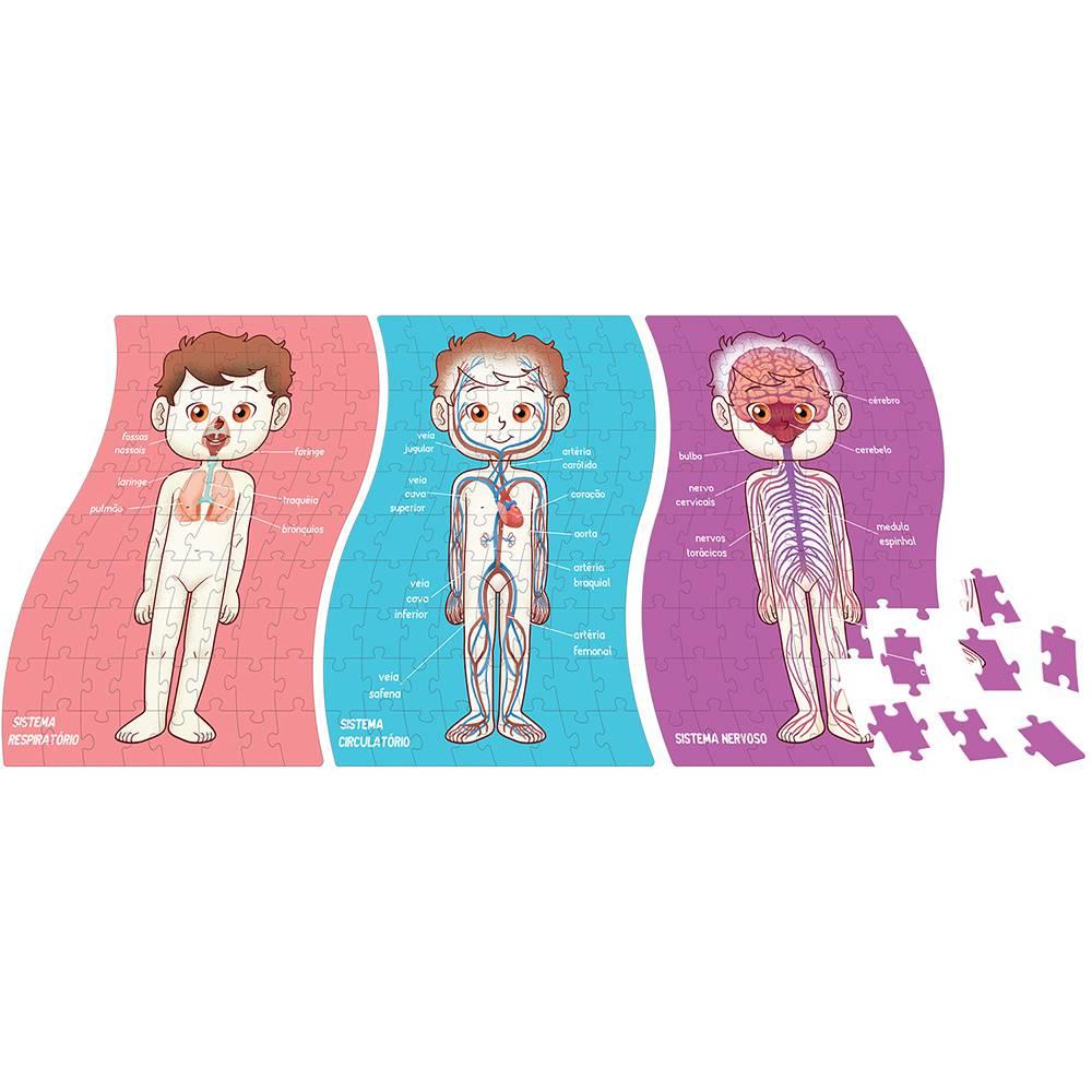 Quebra-Cabeça Conhecendo o Corpo Humano 240 Peças Toyster