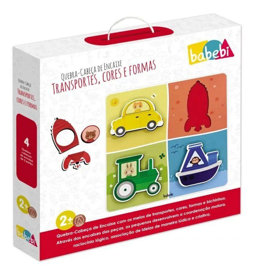 Quebra Cabeça de Encaixe Transportes - Babebi