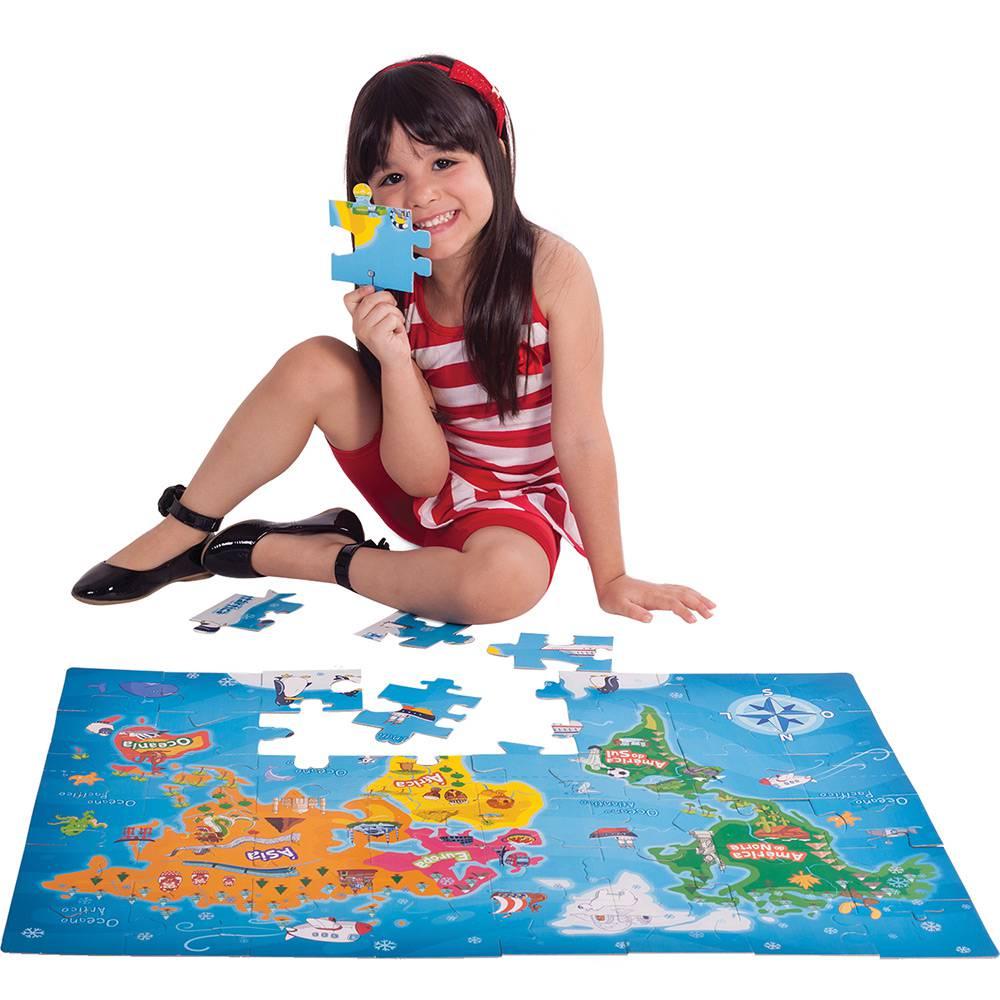 Quebra Cabeça Infantil Conhecendo o Mundo 48 Peças - Toyster