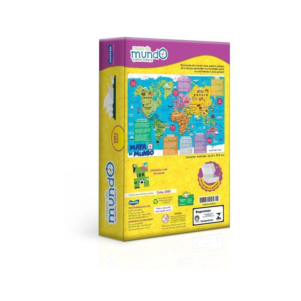Quebra Cabeça Infantil Mapa Do Mundo - Toyster