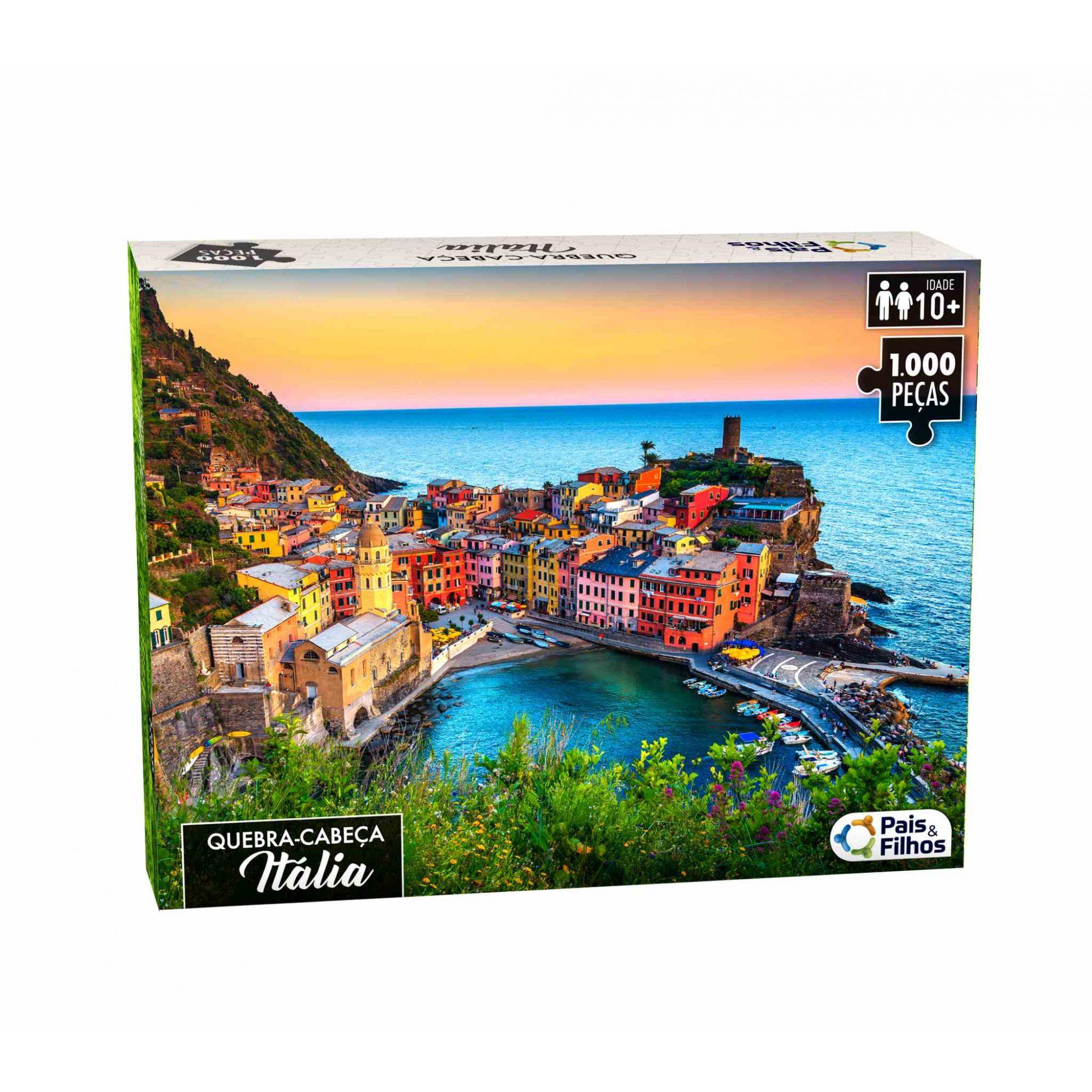 Quebra Cabeça Itália 1000 Peças - Pais e Filhos 0963