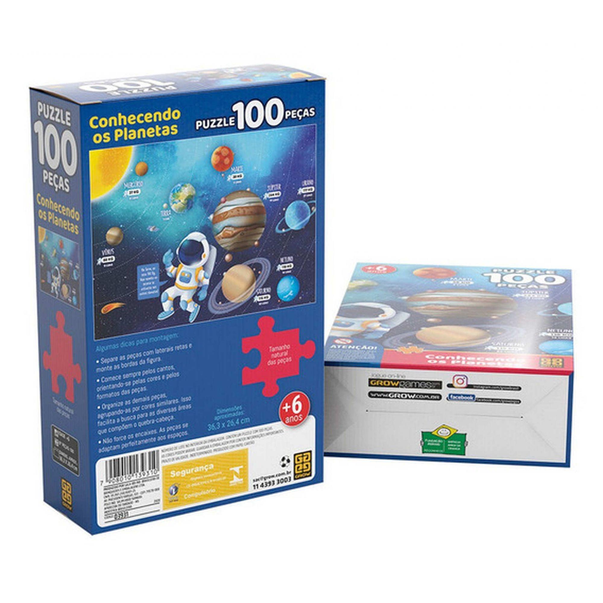 Quebra Cabeça 100 Peças Conhecendo os Planetas - Grow 03931