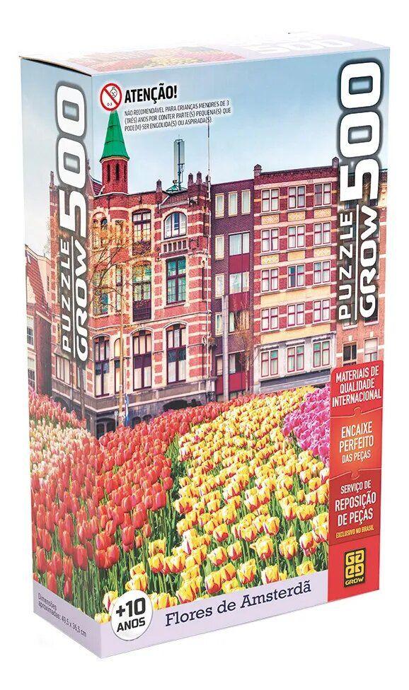 Quebra Cabeça P500 Flores em Amsterdã - Grow 03938