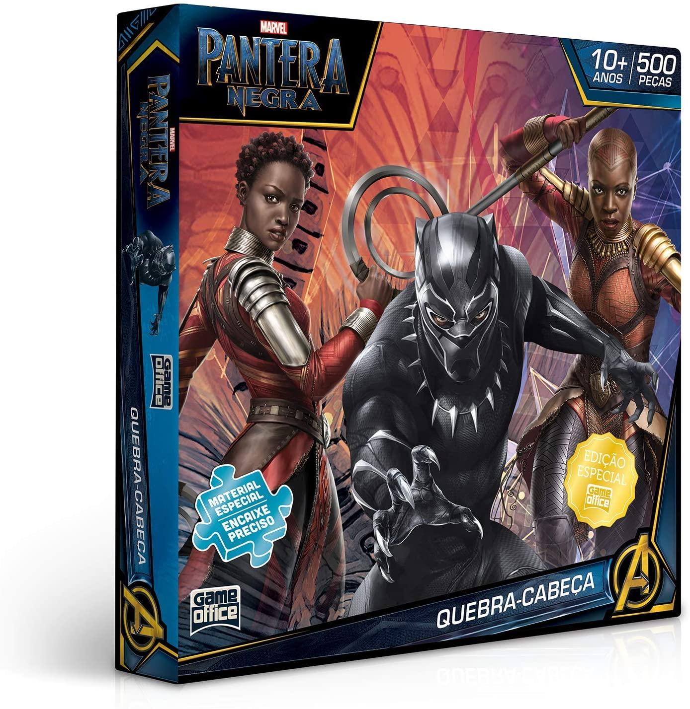Quebra Cabeça Pantera Negra Vingadores 500 Peças - Toyster