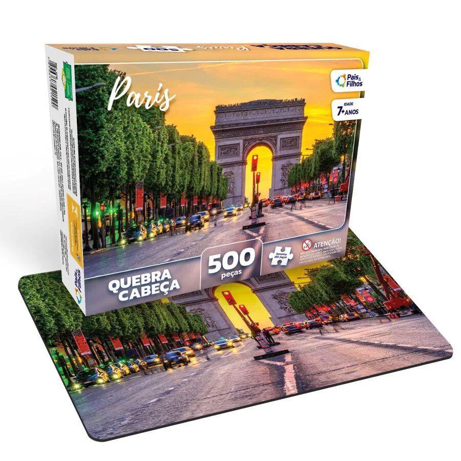 Quebra Cabeça Paris 500 Peças - Pais e Filhos 2978