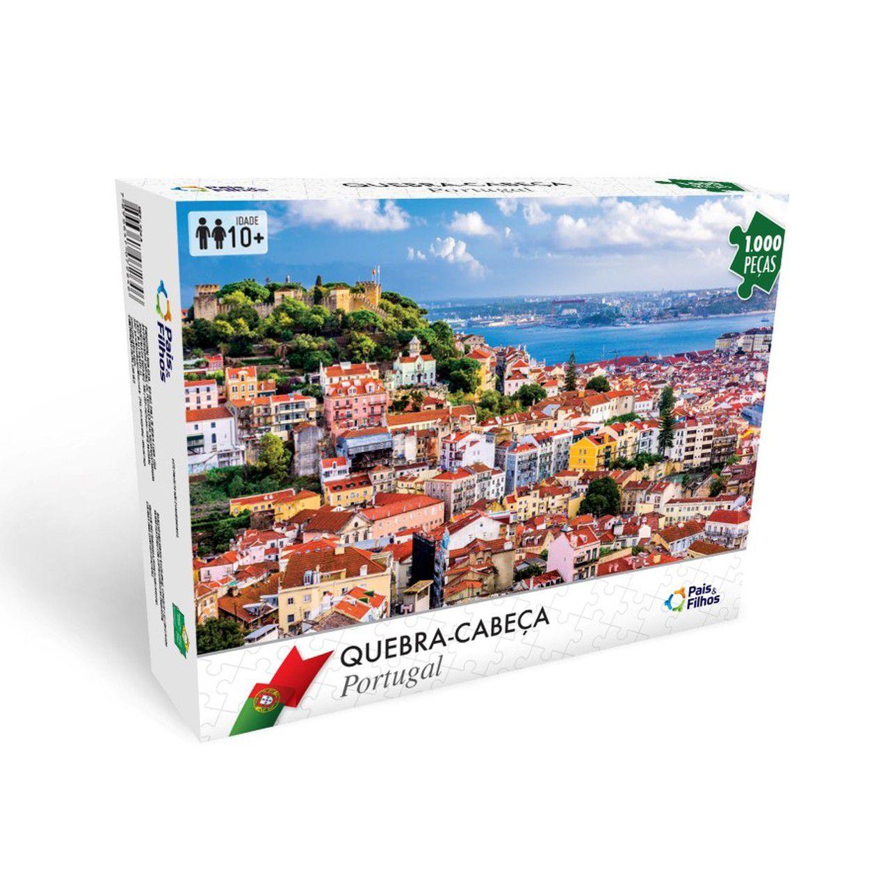 Quebra Cabeça Portugal 1000 Peças - Pais e Filhos 7288