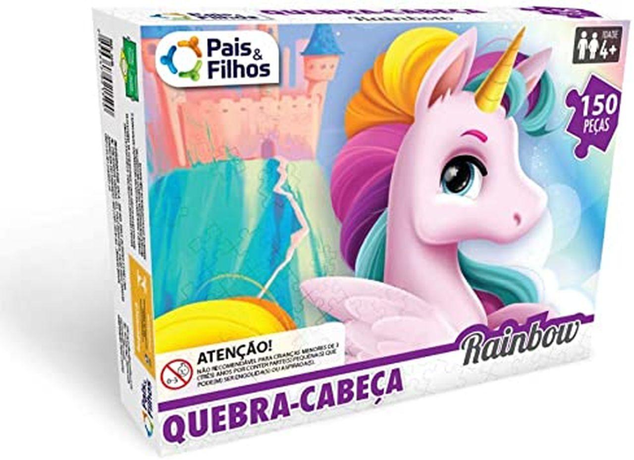 Quebra Cabeça Rainbow 150 Peças - Pais e Filhos 2976