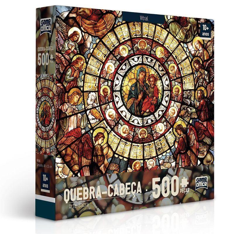 Quebra Cabeça Vitral Arte Sacra 500 Peças - Toyster 2423