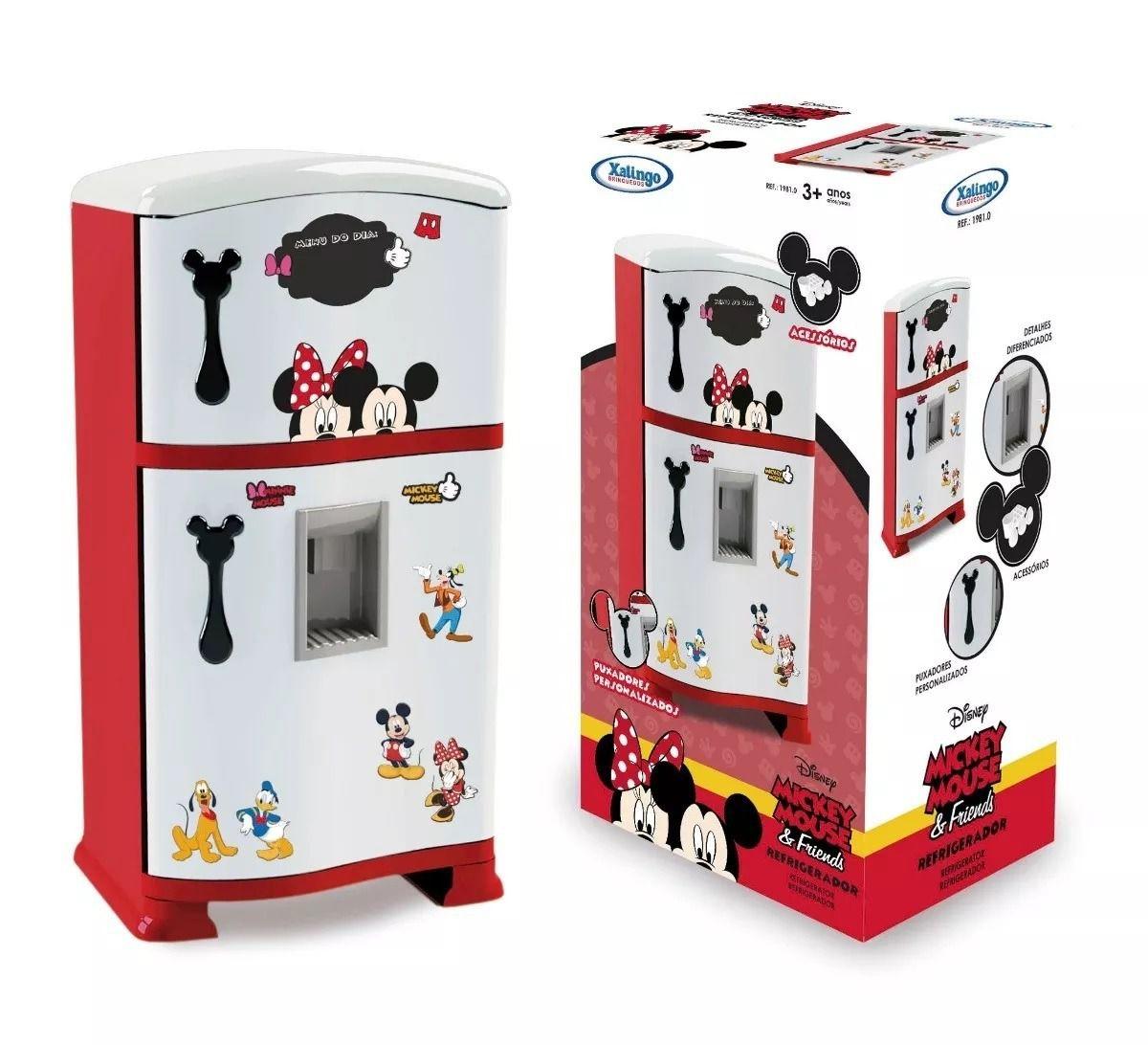 Geladeira Infantil Mickey Mouse Duplex 50 cm - Xalingo