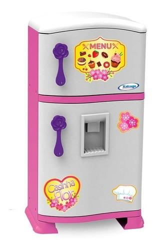 Geladeira Infantil Pop Casinha Flor Cozinha Infantil Xalingo