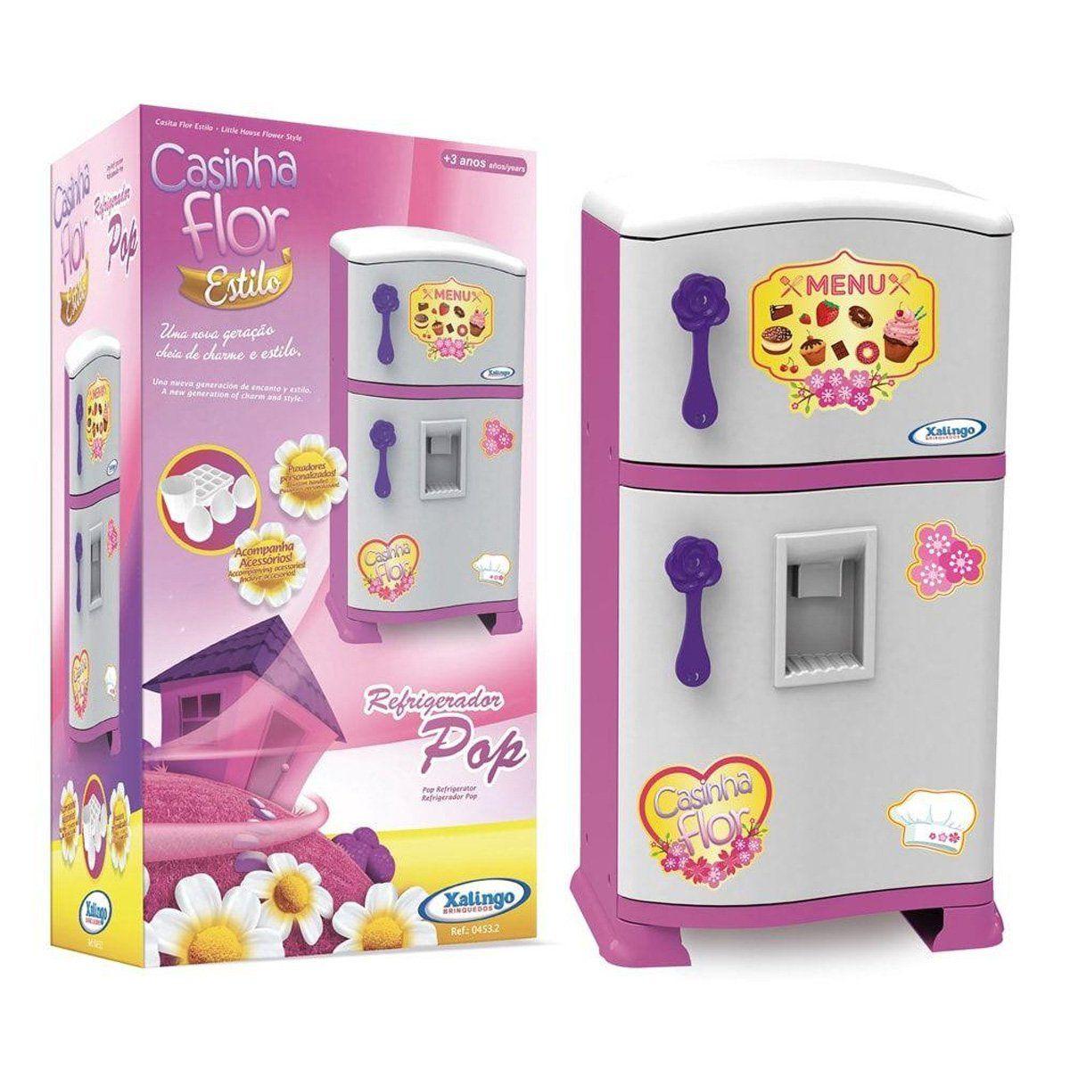 Refrigerador infantil Pop Casinha Flor 50 cm - Xalingo