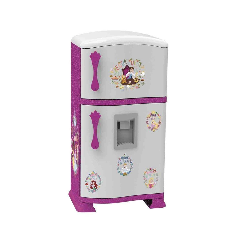 Refrigerador Infantil Pop Princesas Rosa E Branco Xalingo
