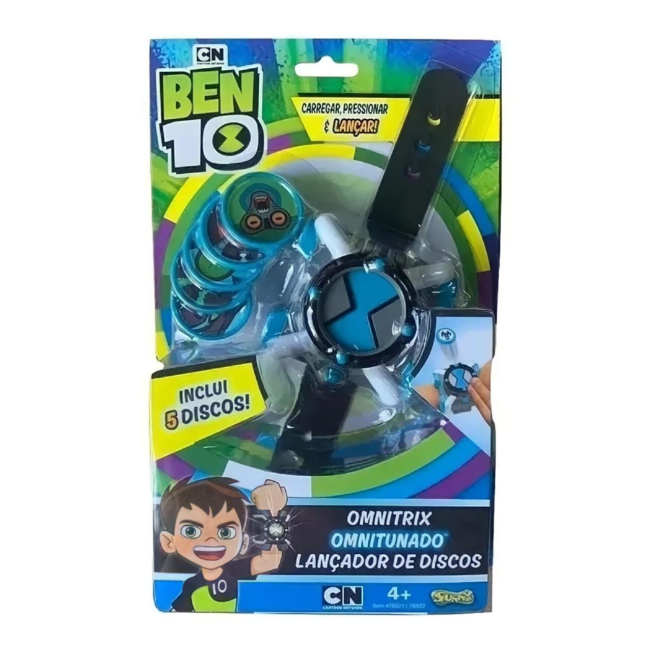 Relógio Ben 10 Lançador De Disco Omnitrix Omnitunado - Sunny