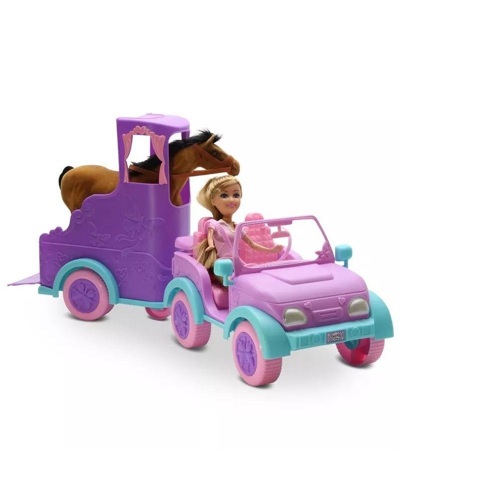 Boneca Sparkle Girlz Passeio Equestre - Dtc