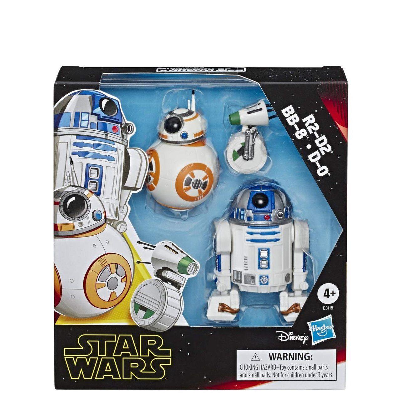 Star Wars Kit Mini Figuras R2-D2 BB-8 D-0 - Hasbro E3118