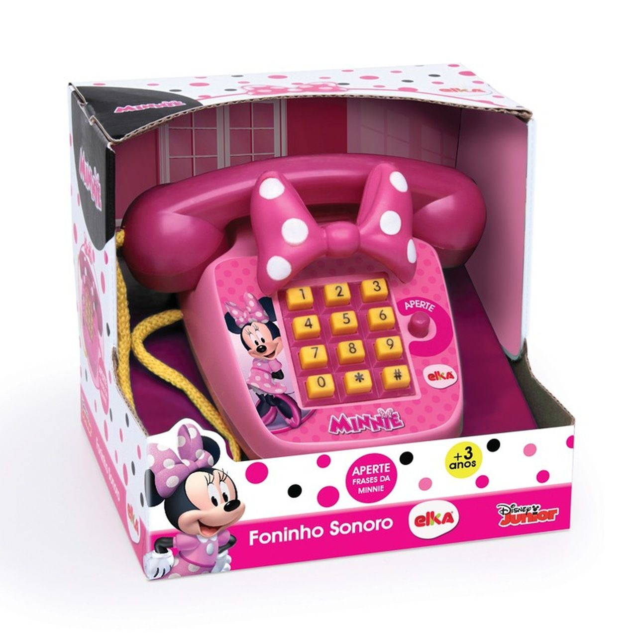 Telefone Infantil Foninho Sonoro Minnie - Elka 1061