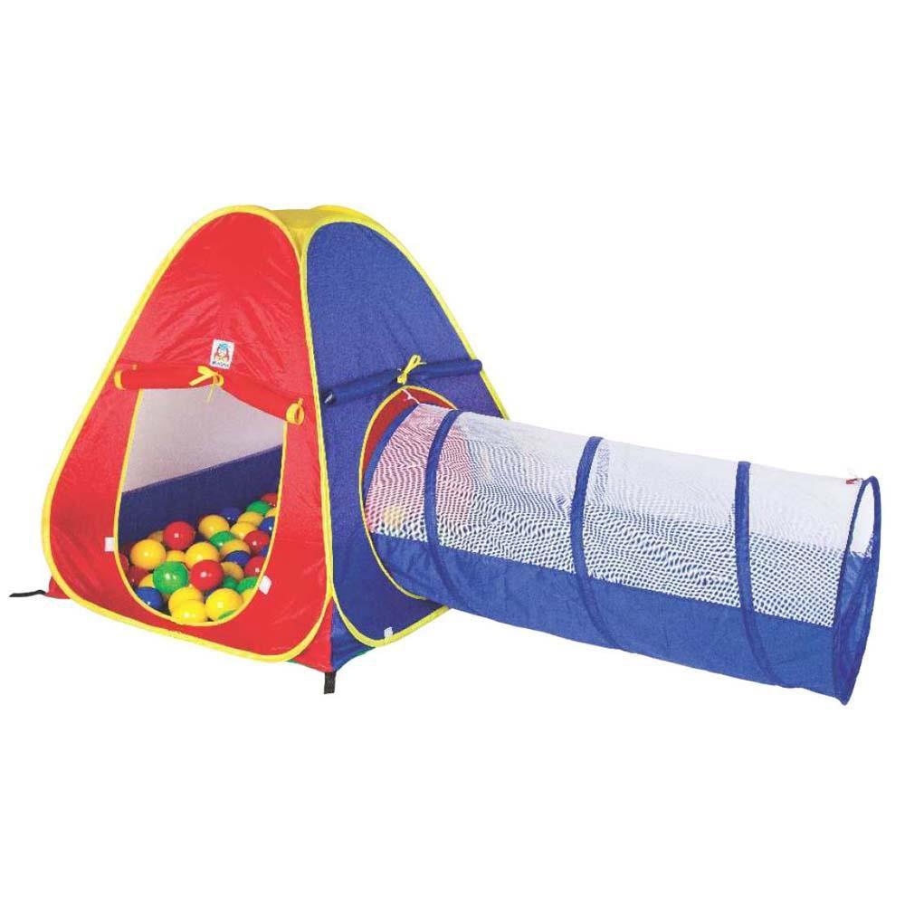 Barraca Infantil Toca com Túnel 60 bolinhas 2 em 1 - Braskit
