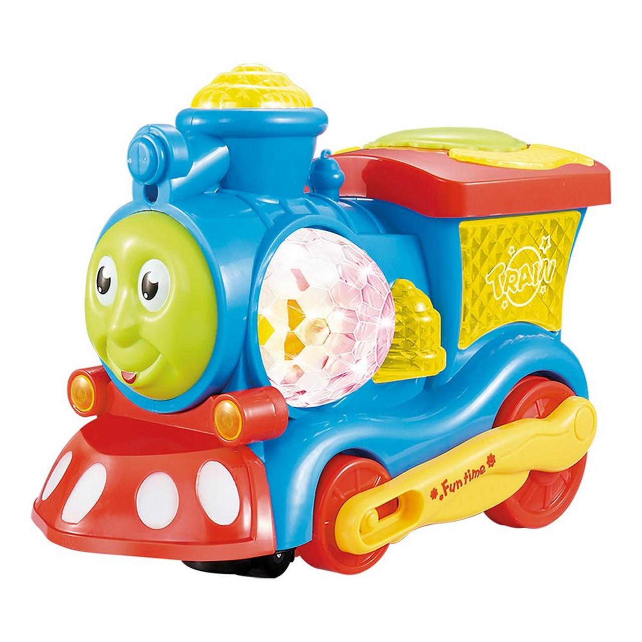 Trem de Brinquedo Bate e Volta Com Luzes Dm Toys - 5101