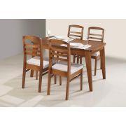 Mesa com 4 Cadeiras Maciça Pinhão