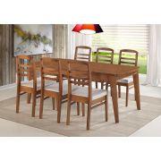 Mesa com 6 Cadeiras Maciça Pinhão