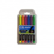 Brush Pen Cis Aquarelável c/ 6 Cores Neon