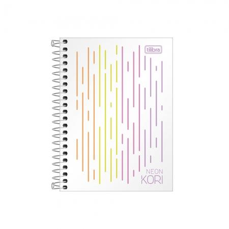 Caderno Espiral Neon Kori 1/4 80 Folhas Tilibra