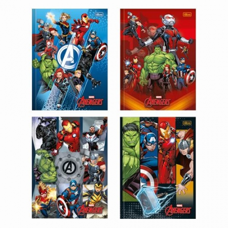 Caderno Univ. Brochura Avengers Tilibra 80F