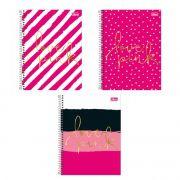 Caderno Universitário 16 Matérias Love Pink